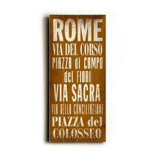 Rome Transit Textual Art Plaque