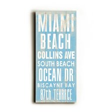 Miami Beach Transit Wood Sign