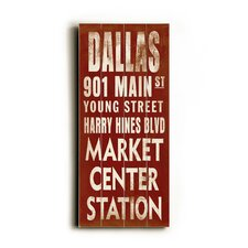 Dallas Transit Wood Sign