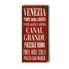 Venezia Transit Wood Sign
