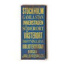 Stockholm Transit Textual Art Plaque
