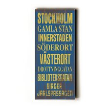 Stockholm Transit Wood Sign