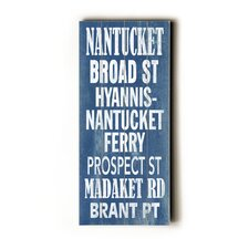 Nantucket Transit Textual Art Plaque