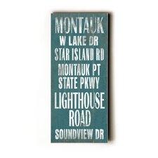 Montauk Transit Textual Art Plaque