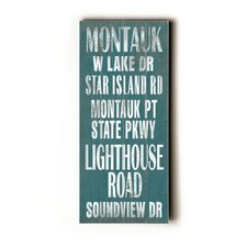 Montauk Transit Wood Sign