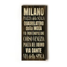 Milano Transit Textual Art Plaque
