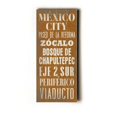 Mexico City Wood Sign