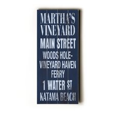 Martha's Vineyard Transit Wood Sign
