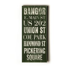 <strong>Artehouse LLC</strong> Bangor Transit Wood Sign