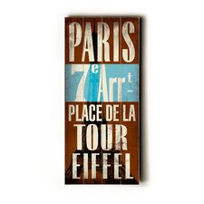Paris Transit Wood Sign