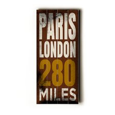 Paris London Transit Textual Art Plaque