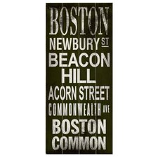Boston Transit Beacon Hill Wood Sign
