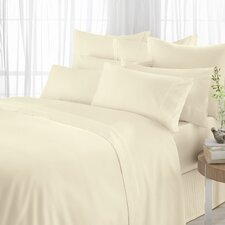 600 Thread Count Egyptian Blended Flat Sheet in Vanilla