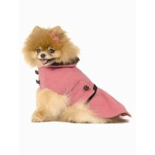 Pleated Dog Coat in Hot Pink