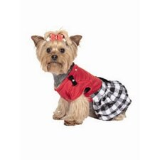 <strong>Max's Closet</strong> Buffalo Plaid Ruffled Dog Dress in Red/Black
