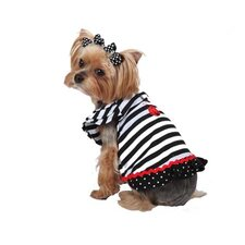 <strong>Max's Closet</strong> Striped Lady Bug Dog Dress