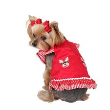 Reindeer Holiday Dog Dress