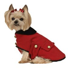 Military Dog Coat in Red