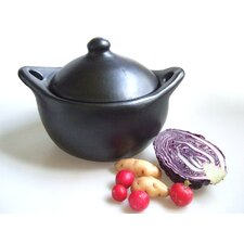 Round Casserole in Black Satin