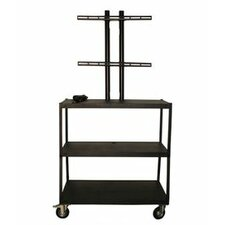 "27 - 42"" Flat Panel Cart with 4 Outlets - 44"" Adjustable Height"