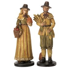 2 Piece Pilgrim Figurine Set