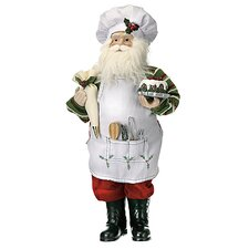 Standing Cooking Santa Figurine