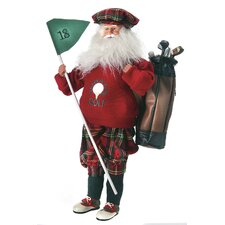 Golf Santa Figurine