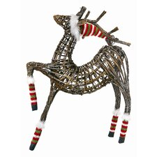 Reindeer with Hat Figurine Christmas Decoration