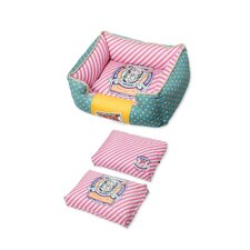 Stylish Dog Bed in Green and Pink