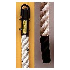 <strong>Ironcompany.com</strong> 18 Foot Manila Indoor Gymnasium Climbing Rope