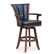 Mahogany Swivel Pub Chair