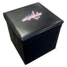 NHL Leather Cube Ottoman
