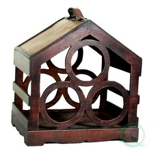 <strong>Quickway Imports</strong> Bird House 3 Bottle Tabletop Wine Rack