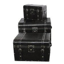 <strong>Quickway Imports</strong> Storage Trunk (3 Piece Set)