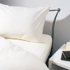 Brushed Cotton Pillowcase in White