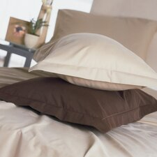 Plain Dyed 200 Thread Count Plain Hem Pillowcase in Black