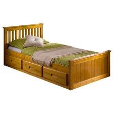 Pine Mission Single Storage Bed Frame