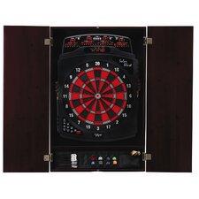 Metropolitan Mahogany Soft-Tip Dartboard Cabinet