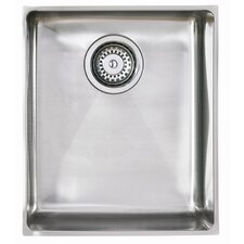 Onyx Single Bowl Inset Sink in Brushed Steel