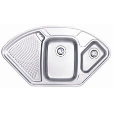 Lausanne 1.5 Bowl Inset Sink and Drainer in Stainless Steel