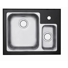 Edge 1.5 Bowl Inset Sink in Stainless Steel