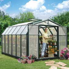 "Hobby Gardener 2 Twin Wall 6' 9"" H x 8' 8"" W x 12' 9"" D Polycarbonate 4 mm Greenhouse"