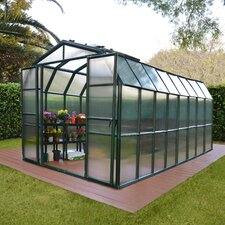 "Grand Gardener 2 Twin Wall 7' 9"" H x 8' 9"" W x 16' 10"" D Polycarbonate 4 mm Greenhouse"
