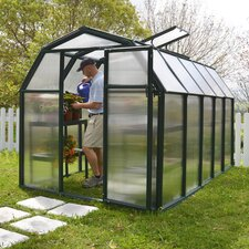 "EcoGrow 2 Twin Wall 6' 4"" H x 6' 5"" W x 10' 4"" D Polycarbonate 4 mm Greenhouse"