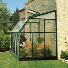 "Sun Lounge 2 8' 1"" H x 6' 6"" W x 12' 8"" D Polycarbonate 4 mm Lean-To Greenhouse"