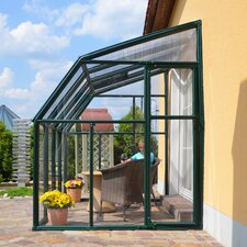 "Sun Lounge 2 8' 1"" H x 10' 3"" W x 6' 6""D Polycarbonate 4 mm Lean-To Greenhouse"