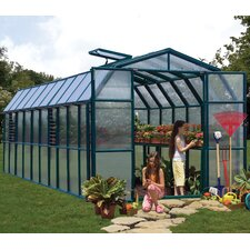 "Grand Gardener 2 Twin Wall 7' 9"" H x 8' 9"" W x 20' 7"" D Polycarbonate 4 mm Greenhouse"
