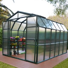 "Grand Gardener 2 Twin Wall 7' 79"" H x 8' W x 8' D Polycarbonate 4 mm Greenhouse"