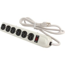 Metal 6 Outlet Surge Protector with Safety Circuit Breaker