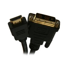 "72"" HDMI to DVI Cable with Gold-Plated Connector"